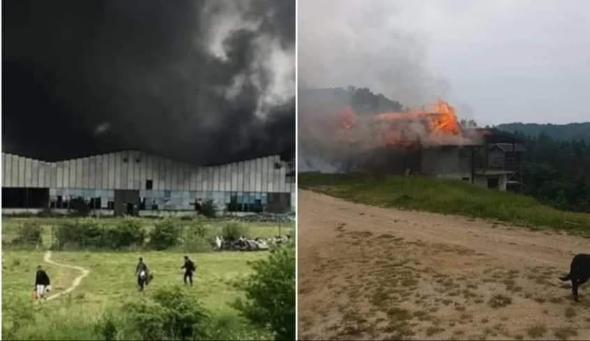Migranti izazvali velike požare u dva napuštena objekta u Velikoj Kladuši