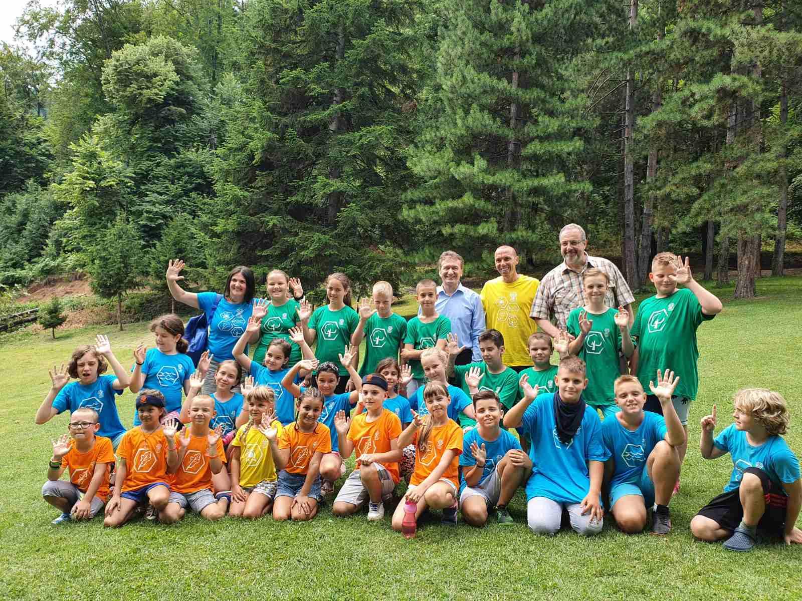 Mali ugljevičani učesnici NTC kampa, posjetio ih načelnik opštine