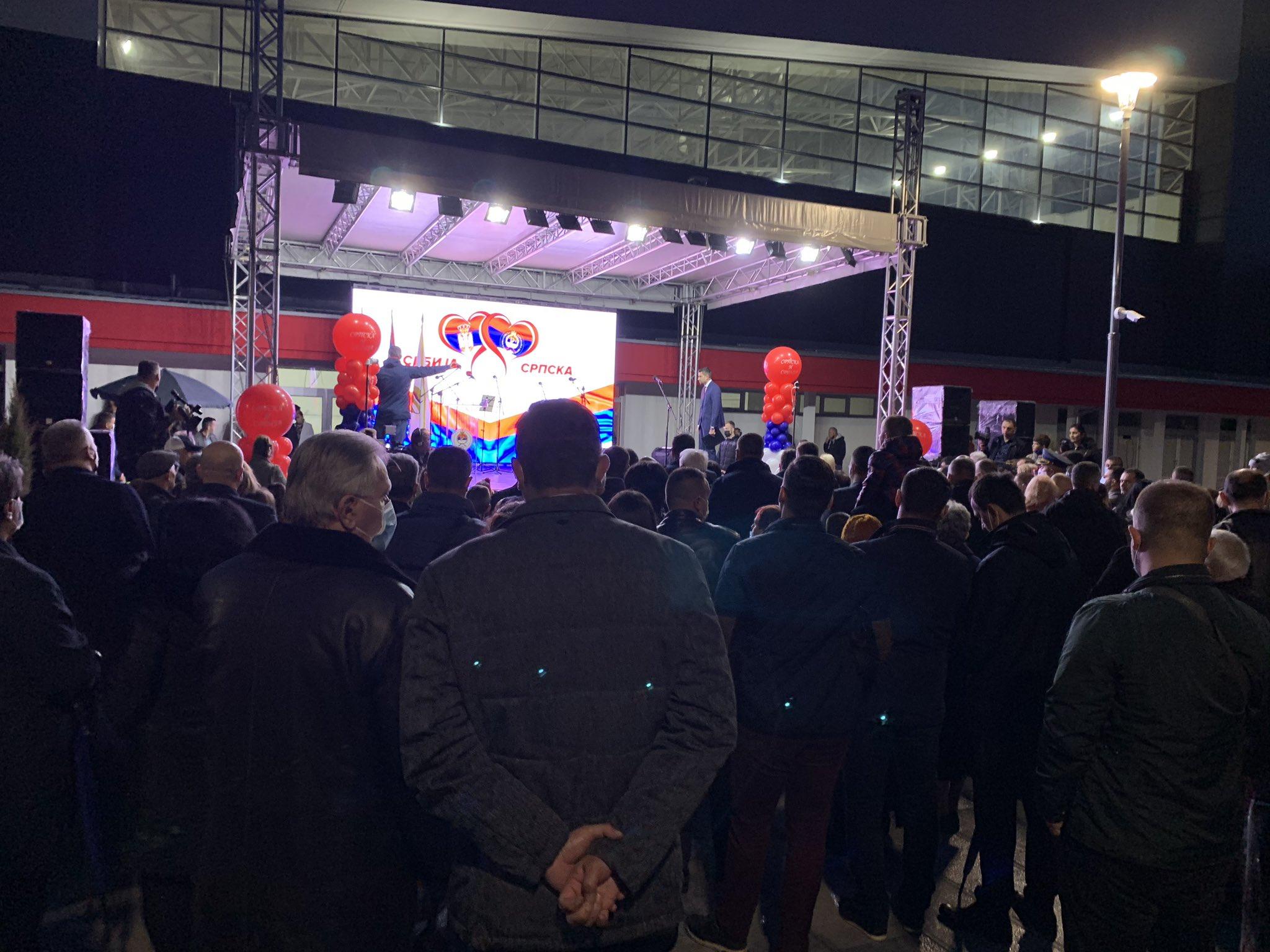 Okupljanje povodom otvaranja Trga Republike u Istočnom novom Sarajevu suprotno epidemiološkim mjerama