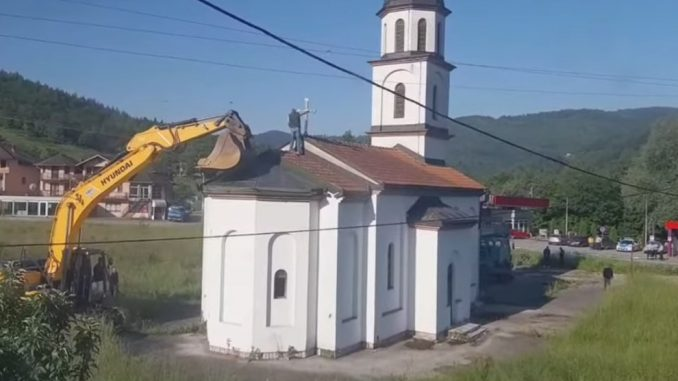 Tegeltija (SNSD) izdao odobrenje  za rušenje pravoslavne crkve na posjedu Fate Orlović (VIDEO)