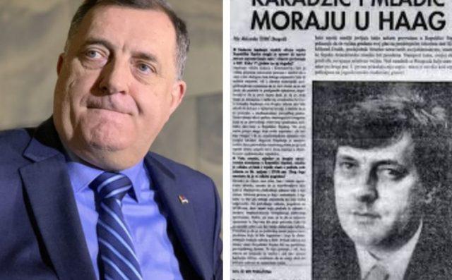 Tako je nekad govorio Dodik: Đavola Mladić voli srpski narod, neka ispašta za zločine koje je počinio (VIDEO)