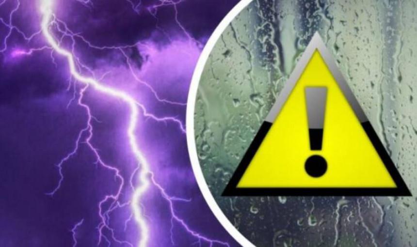 Upozorenje zbog očekivane obilne kiše i grmljavine