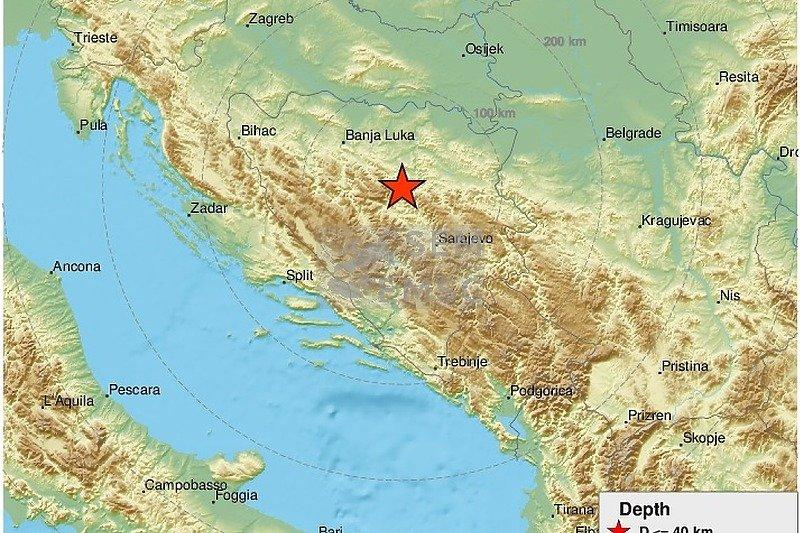 Jak zemljotres na području Zenice