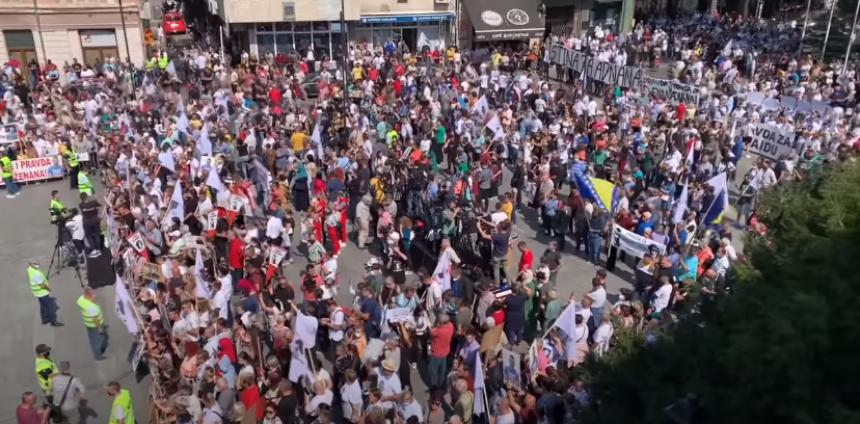 Hiljade građana na protestu ponovilo zahtjeve za pravdom